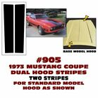 GE-905 1971-73 MUSTANG COUPE FASTBACK CONVERTIBLE DUAL HOOD STRIPES BASE MODEL