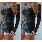 New Womens Ladies Casual V Neck Long Sleeve Cotton Loose Tops T-Shirt Blouse