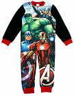 Boys Marvel Avengers Thor Captain America Hulk Fleece Sleepsuit 3 to 8 Years