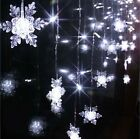 3.5m 100 SMD 16 Snowflake LED String Christmas Wedding Party Curtain Fairy Light