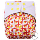 Miababy Reusable Waterproof PUL Baby Cloth Diaper Nappy Cover Double Gussets