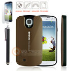 Hybrid Dual Layer Armor Defender Case Cover for Samsung Galaxy S4 i9500 Brown