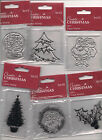 Docrafts Mini Clear Stamp,Various Christmas Designs. BNIP