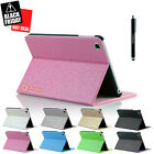 Magnetic Slim Leather Folio Stand Smart Case Cover for iPad Mini / Mini 2 Pink
