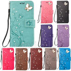 Fashion 3D Bling Strass Flip Patterned PU Leather Wallet Stand Case Lot Cover
