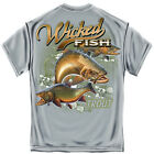 WICKED FISH TROUT BLUE ADULT T-SHIRT NEW