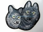 US Seller-wolf couple embroidery iron on patch patch applique