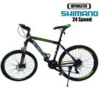 "24Speed Shimano Aluminium Mountain Bike 17"" Frame Cycling DiskBrake Lockout Folk"