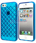 2x Anti-Slip Soft Glossy TPU Rubber Gel Skin Case Cover for iPhone SE 5S 5 Blue
