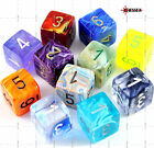 dadi d6 SIGNATURE Chessex COLORE CASUALE Pathfinder D&D RPG Warhammer sei facce