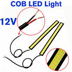 2X Waterproof Bright COB Car LED Lights DRL Fog Daytime Driving Lamp Bulb White