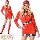 Racing Girl Ladies Fancy Dress Car Racer Sports Uniform Womens Adult Costume New