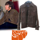New Beatles John Lennon Rubber Soul Inspired Brown Suede Leather Jacket