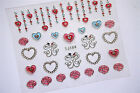 Nail Art Stickers 3D Decal Ultrathin Flowers Love Hearts Happy Valentine's Day!