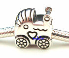 Baby Carriage 925 Sterling Silver Fit European Charm Bracelet