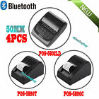 LOT4 Wireless Bluetooth USB Thermal Receipt Printer 58mm Line Mobile POS USA WP