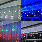 HX Christmas LED Fairy Curtain Lights Outdoor Twinkle Star Decoration LED String