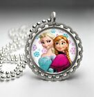 Frozen's Anna and Elsa Necklaces - Bottlecap Style - 4 Styles to Choose From!