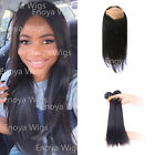 Fashion 360 Full Lace Band Straight Indian Human Hair Lace Frontal with 2Bundles