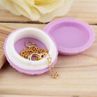 Newest Cute Jewelry Earring Stud Necklace Storage Case Cosmetic Make-up Box Q3