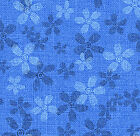 SUNDAY FLOWER BLUE DAISY QUILT SEWING FABRIC Free Oz Post