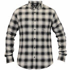 mens checked shirts Threadbare tartan long sleeved collared casual new