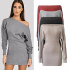Womens Long Sleeve Off Shoulder Party Dress Evening Cocktail Casual Mini Dress