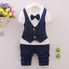 New Fashion Gentry Toddler Boys 3 Piece Pinstripe Vest,  Shirt,  Pants, Set JH