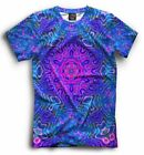 NEW All Over print lsd t-shirt colorful psychedelic GOA pattern cool designe HQ