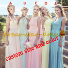 STOCK Long Formal Convertible Bridesmaid Dresses Wedding Prom Party Ball Size 6+