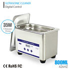 Digital 800ml Dental Watch Jewelry Ultrasonic Cleaner Bath Stainless w/Timer