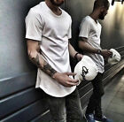 Harlem Hip Hop Men's Basic Extended Long T- Shirt Lot Elongated Tee Hipster