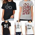 New Short Sleeve T-Shirt Harry Potter Inspired Deathly Hallows Hogwarts Tops Tee
