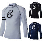 Mens Sports Compression Tight Tops Base Layer Workout GYM Long Sleeve T-Shirt