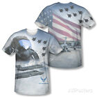 Air force clothing and sales - Air Force - Pilot (Front/Back Print) Apparel T-Shirt - Sublimate White