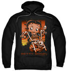 Hoodie: Betty Boop - Sunset Rider Apparel Pullover Hoodie - Black $42.99 USD