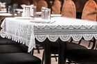 Beautiful Traditional Woven Lace Royal Look Tablecloth