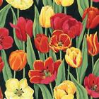 TULIP FLORAL FLOWERS QUILT SEWING FABRIC *Free Oz Post