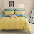 Yellow Checked King Single Double Size Quilt Doona Duvet Cover Sets Pillowcases