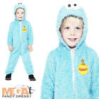 Cookie Monster Jumpsuit Kids Fancy Dress Sesame Street Childs Costume Outfit New