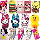 3D Cartoon Silicone Rubber Soft Case Cover For iPhone 5/6/7 Samsung Motorola LG