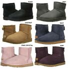 NEW UGG Women's Classic Mini II Winter Boots Shoes Black Chestnut Grey Navy Sand