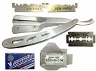 New Barber Straight Cut Throat Shaving Razor Rasiermesser + 10 Supermax Blades