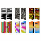 HEAD CASE DESIGNS DYNAMIC STRIPES LEATHER BOOK WALLET CASE FOR SAMSUNG GALAXY A3