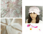 2PCS New Good Quality 100% Pure Silk Shower Hat Hair Wrap Cap