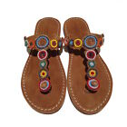 "LAIDBACK LONDON Zehentrenner ""Freeway"" flat midbrown-tribal, Sandale"