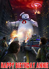 GHOSTBUSTERS Angry Marshmallow Man Stay Puft Birthday Party Cake icing sheet