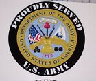 Proudly Served US ARMY motorhome Wall Window Decal decals Mural Graphics