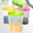 New Basicwise BPA-Free Plastic Food Saver, Kitchen Food Cereal Storage Container