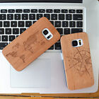 Mobile Phone Natural wooden Wood Carved Case for Samsung s5/s6/s7/s6 edge/s7edge